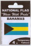 Bahamas Country Flag Tattoos.